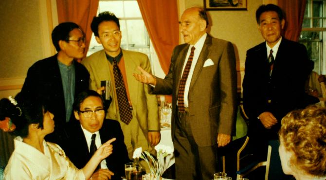 デイビット・リーチと濱田友緒ら益子の訪問団との交流 1995年
