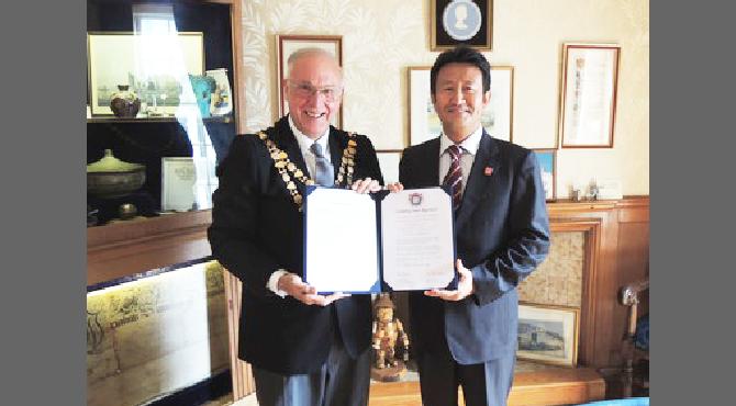 両町の友好都市締結 2012年
