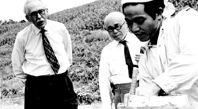 沖縄の陶芸を視察 1964年