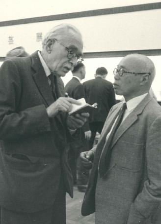 スペイン民芸展にて語る二人 1964年